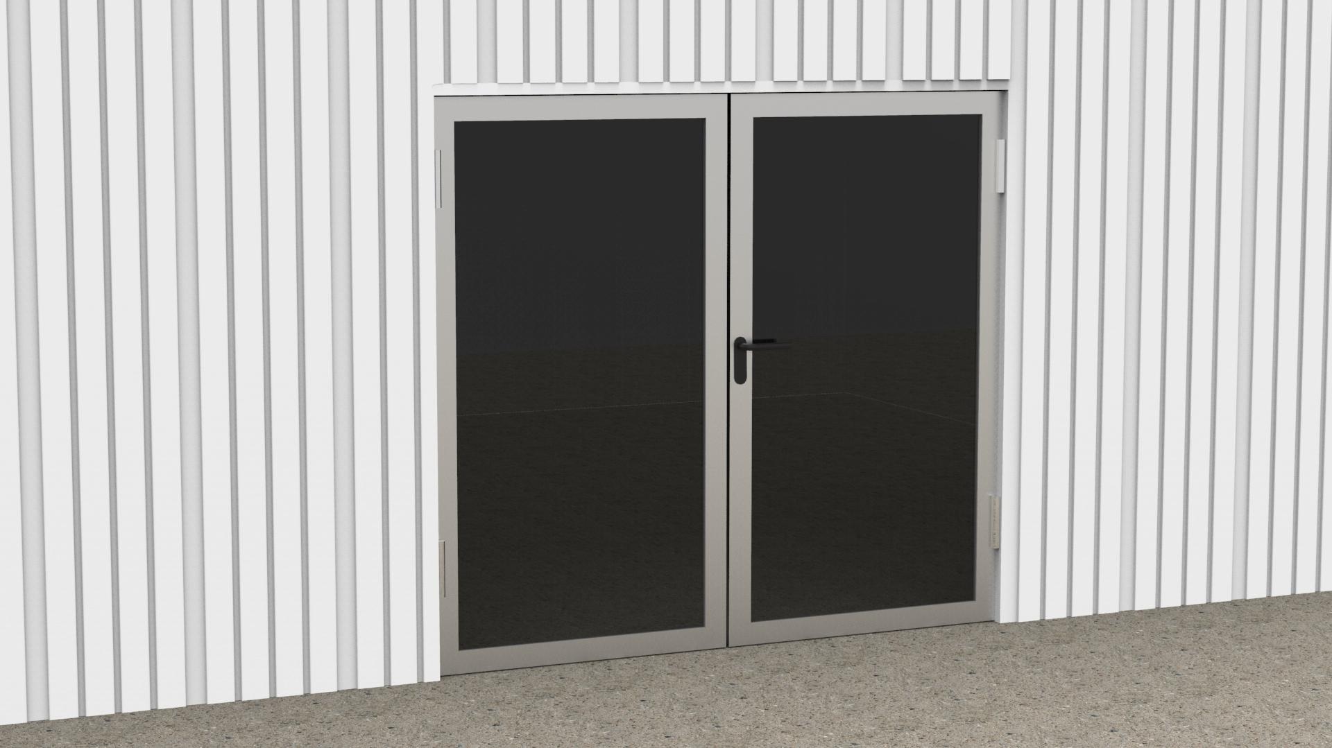 Tür mit zwei Flügeln