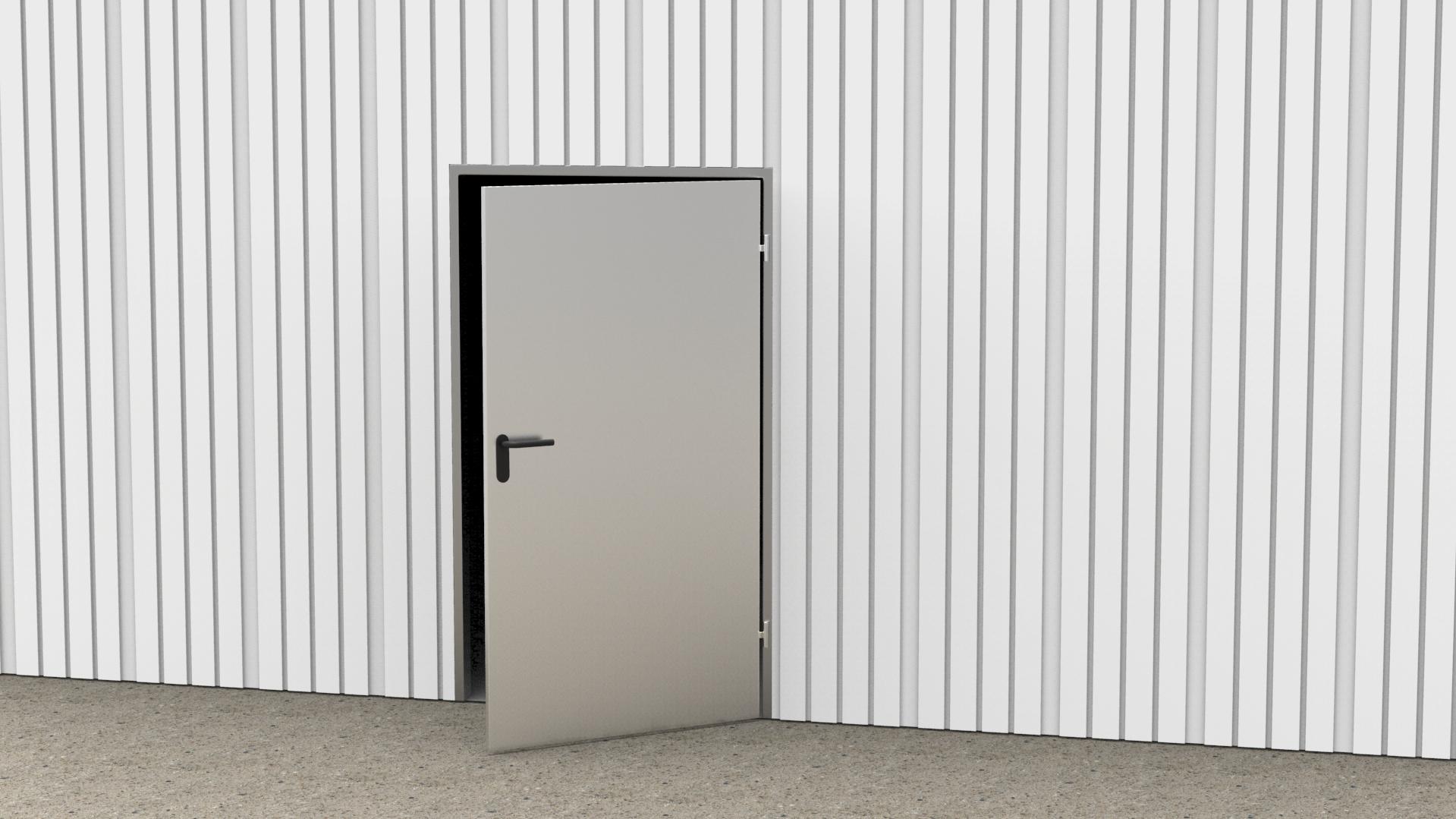 Tür mit einem Flügel